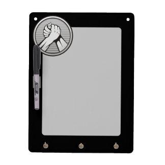 Arm wrestling Silver Dry Erase Board