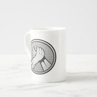 Arm wrestling Silver Tea Cup