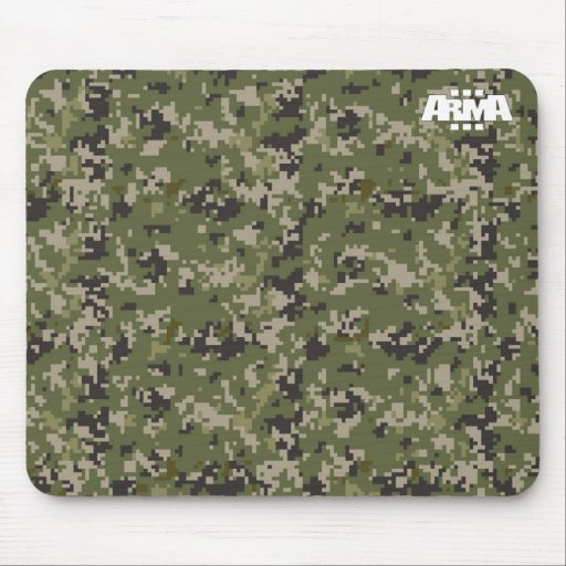 Arma 3 Hexacam - arid camo pattern Mousepad