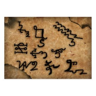 "armadel aratron ""parchment"" business cards"