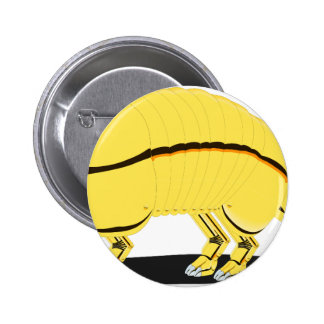 Armadillo 6 Cm Round Badge