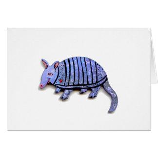 Armadillo card cute happy funky art armadillos
