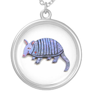 Armadillo pendant necklaces fun cute unique art