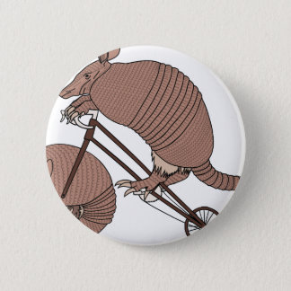 Armadillo Riding Bike With Armadillo Wheel 6 Cm Round Badge