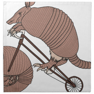Armadillo Riding Bike With Armadillo Wheel Napkin