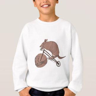 Armadillo Riding Bike With Armadillo Wheel Sweatshirt