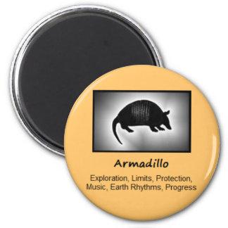 Armadillo Totem Animal Spirit Meaning 6 Cm Round Magnet