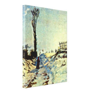 Armand Guillaumin - Hollow in the snow Stretched Canvas Prints