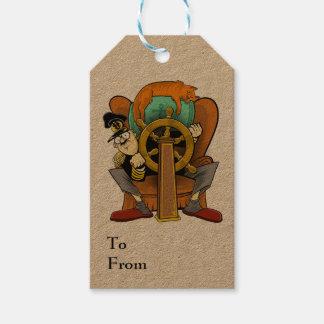 Armchair Captain gift tag