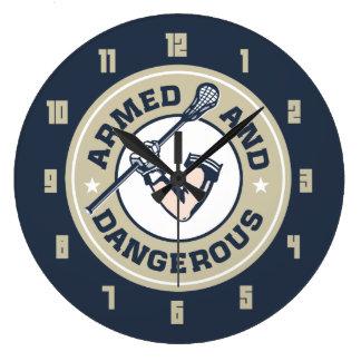 Armed and Dangerous Lacrosse clock