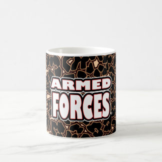 Armed Forces; Bold White Words any-style Mugs