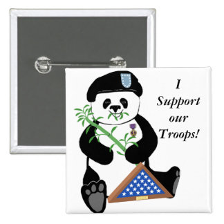 Armed Forces Day Panda Button
