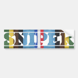 Armed Forces Expeditionary Medal SNIPER Sticker Bumper Stickers
