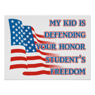 Armed Forces Freedom - Honor Student Print Poster