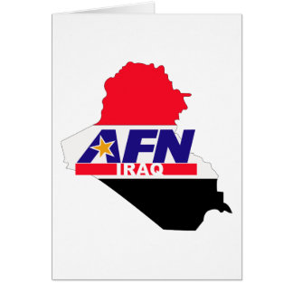 Armed Forces Network Iraq Greeting Card
