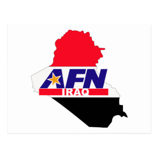 Armed Forces Network Iraq Postcard
