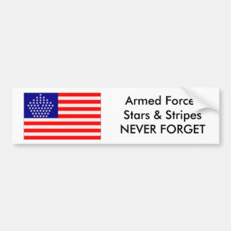 Armed Forces Stars & Stripes Car Bumper Sticker