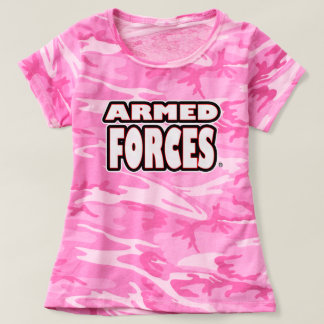 Armed Forces; White Camouflage T-Shirts