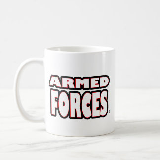 Armed Forces; White-Letters any-style Mugs