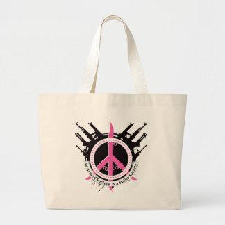 Armed Polite Society - Pink Jumbo Tote Bag