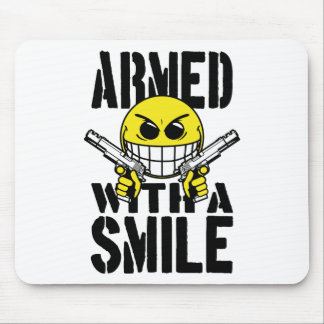 Armed with a smile mouse pad