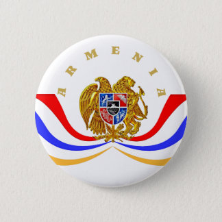 Armenain Coat of Arms Round Button