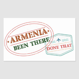 Armenia Been There Done That Rectangular Sticker