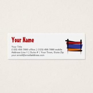 Armenia Brush Flag Mini Business Card