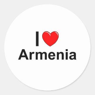 Armenia Classic Round Sticker