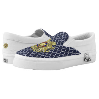 Armenia Coat of Arms Jewel Tones Slip-On Shoes