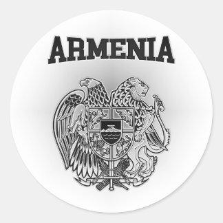 Armenia Coat of Arms Round Sticker