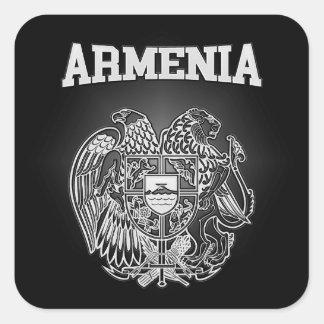 Armenia Coat of Arms Square Sticker