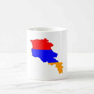armenia country flag map shape symbol coffee mug