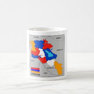 armenia country political map flag coffee mug