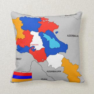 armenia country political map flag pillows