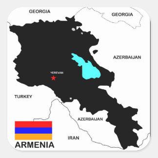 armenia country political map flag square stickers