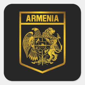 Armenia Emblem Square Sticker
