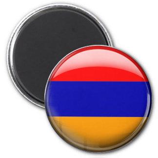 Armenia Flag 6 Cm Round Magnet