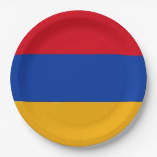 Armenia Flag 9 Inch Paper Plate