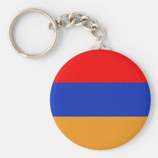 Armenia Flag Basic Round Button Key Ring