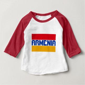 Armenia Flag Blue Stripe Text Baby T-Shirt