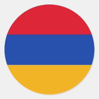 Armenia Flag Classic Round Sticker
