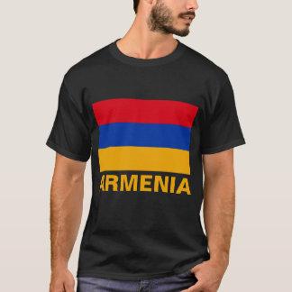 Armenia Flag Customizable Orange Text T-Shirt
