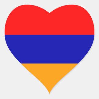 Armenia Flag Heart Sticker