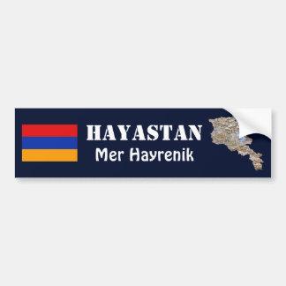 Armenia Flag + Map Bumper Sticker
