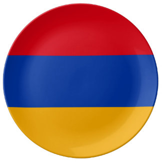 Armenia Flag Porcelain Plate