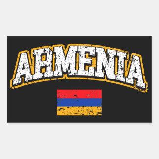 Armenia Flag Rectangular Sticker