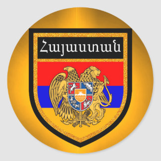 Armenia Flag Round Sticker