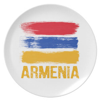 Armenia Flag shirts Plates