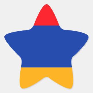 Armenia Flag Star Sticker